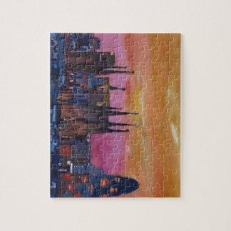 Barcelona Skyline and Torre Agbar, Sagrada Familia Jigsaw Puzzle