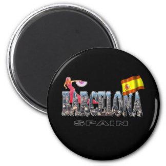 Barcelona Spain 6 Cm Round Magnet