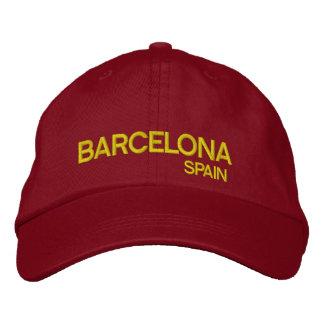 Barcelona* Spain Adjustable Hat Embroidered Cap