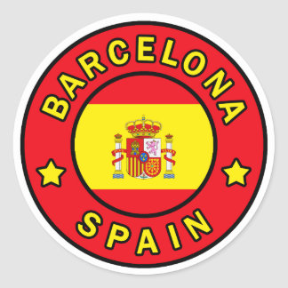 Barcelona Spain Classic Round Sticker