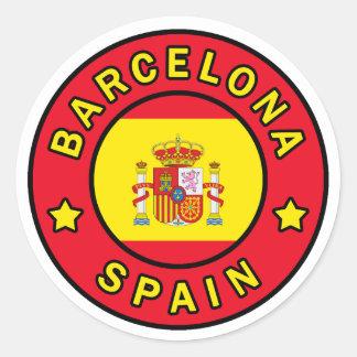 Barcelona Spain Classic Round Sticker