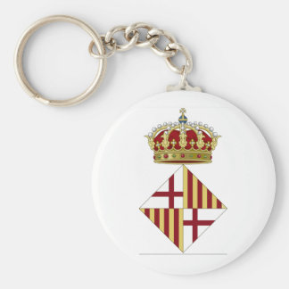 Barcelona (Spain) Coat of Arms Key Ring