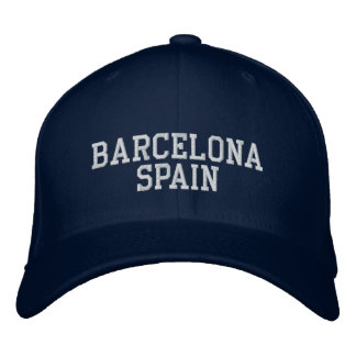 Barcelona Spain Embroidered Cap