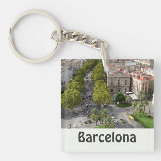 Barcelona, Spain Key Ring