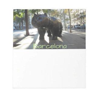 Barcelona Spain Notepad