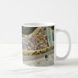 Barcelona Spain, Park Güell, Mosaic Tile mug