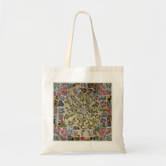 Barcelona Spain, Park Güell, Mosaic Tile Tote Bag