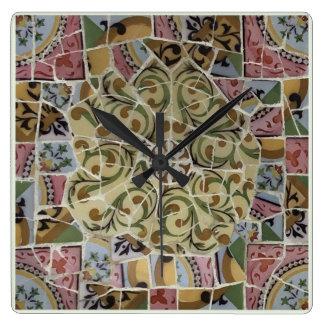Barcelona Spain, Park Güell, Wall Clock
