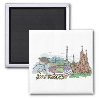 Barcelona - Spain.png Magnet