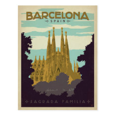Barcelona, Spain - Sagrada Familia Postcard at Zazzle