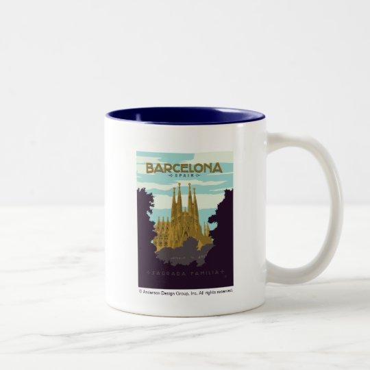 Barcelona, Spain - Sagrada Familia Two-Tone Coffee Mug