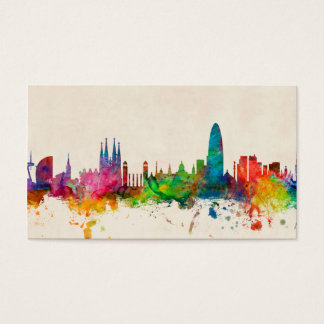 Barcelona Spain Skyline Business Card