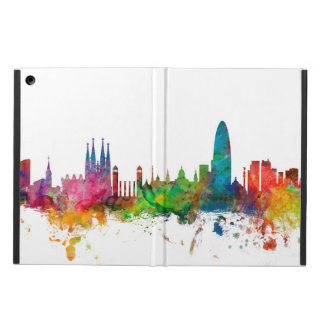 Barcelona Spain Skyline Cover For iPad Air