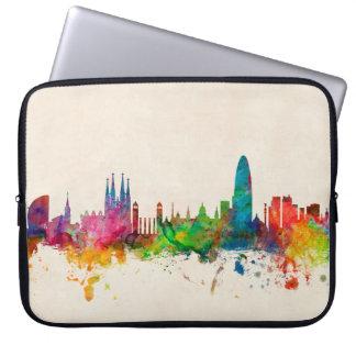 Barcelona Spain Skyline Laptop Sleeve