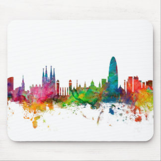 Barcelona Spain Skyline Mouse Mat