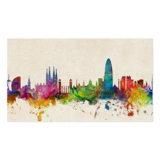 Barcelona Spain Skyline Pack Of Standard Business Cards