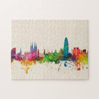 Barcelona Spain Skyline Puzzle