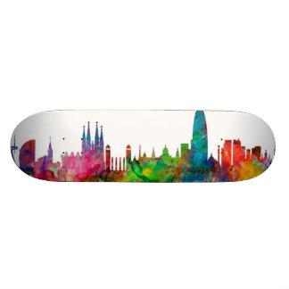 Barcelona Spain Skyline Skate Boards