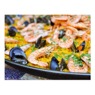 Barcelona Spain | Spanish Paella Postcard