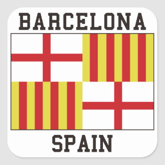 Barcelona Spain Square Sticker