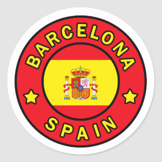 Barcelona Spain Sticker
