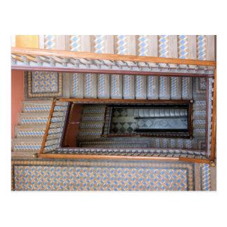 Barcelona, Spain  -  Tile Stairway Postcard