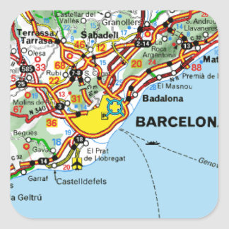 BARCELONA SQUARE STICKER