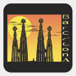 Barcelona Square Stickers