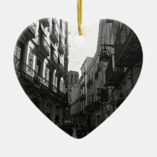 Barcelona Street Ceramic Heart Decoration