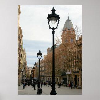 Barcelona Stroll - Portal del Angel Poster