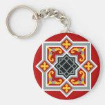 Barcelona tile red octagonal pattern