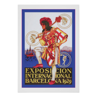 Barcelona ~ Vintage Spanish Exposition Poster