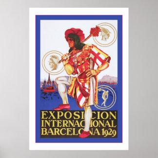 Barcelona ~ Vintage Spanish Exposition Poster