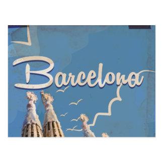Barcelona Vintage Travel poster Post Cards