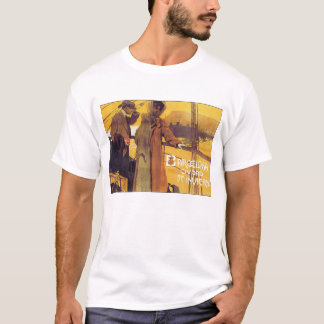 Barcelona Vintage Travel Poster T-Shirt