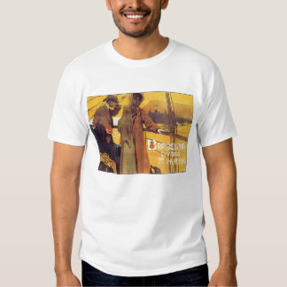 Barcelona Vintage Travel Poster Tshirts