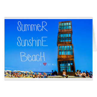 Barceloneta Beach Card