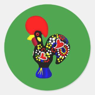 Barcelos Galo do Portugal por os portugueses Round Sticker