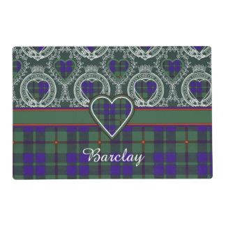 Barclay clan Plaid Scottish tartan Laminated Place Mat