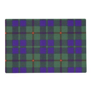 Barclay clan Plaid Scottish tartan Laminated Placemat
