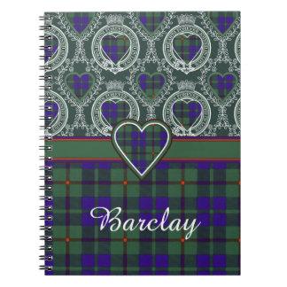 Barclay clan Plaid Scottish tartan Notebook