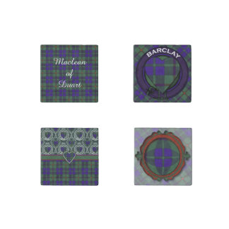 Barclay clan Plaid Scottish tartan Stone Magnet
