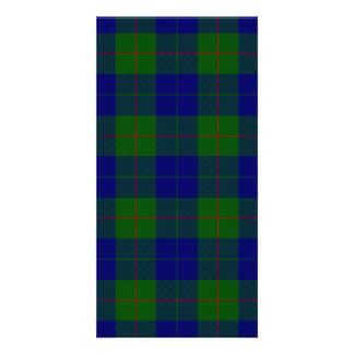 Barclay clan tartan blue green plaid photo greeting card