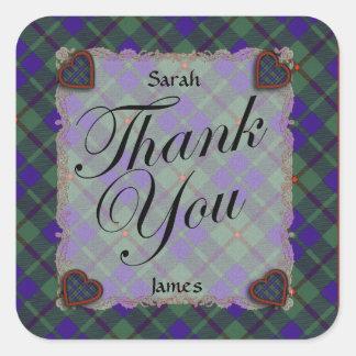 Barclay Scottish clan tartan - Plaid Stickers