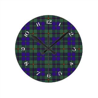 Barclay Scottish Tartan Round Clock