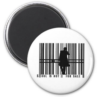 barcode 6 cm round magnet