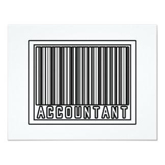 Barcode Accountant 11 Cm X 14 Cm Invitation Card