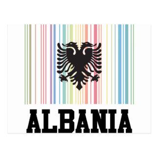 Barcode Albania Postcard