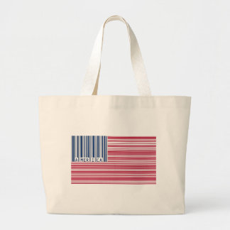 barcode american flag canvas bags