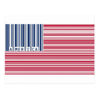 barcode american flag post card